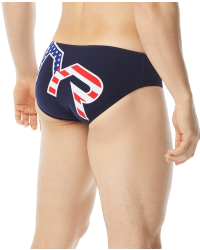 TYR Men's Big Logo USA Racer