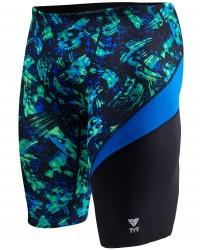 TYR Boys' Emulsion Wave Jammer Swimsuit
