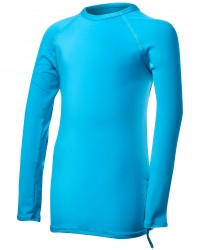 TYR Girls' Solid Long Sleeve Rashguard - Turquoise