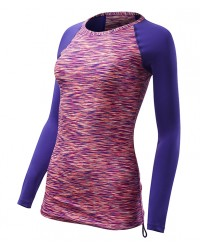TYR Women's Belize Long Sleeve Rashguard - Sonoma