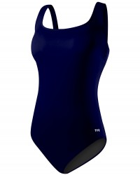 Women's Plus Size Solid Aqua Controlfit Swimsuit