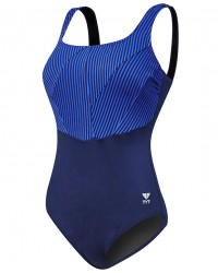 TYR Women's Monroe Stripe Aqua Controlfit Swimsuit