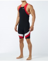 Triathlon Gifts For Him: Men's Carbon Zipper Back Short John Triathlon Suit