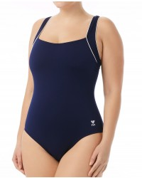 TYR Women's Solid Square Neck Controlfit Swimsuit