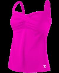 Women's Plus Size Solid Twisted Bra Tankini