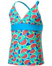 TYR Girls' Tutti Frutti Claire Tank  - Turquoise