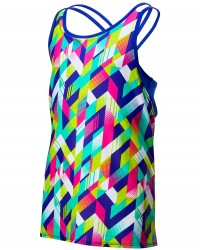 TYR Girls' Paint Party Olivia 2 in 1 Tank - Multi