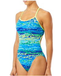 TYR Women's Serenity Trinityfit Swimsuit - Blue Green
