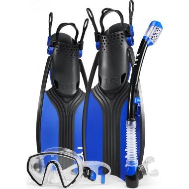 Voyager Mask Snorkel Fin Set