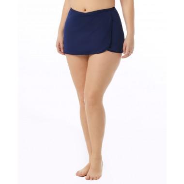 Women's Plus Size Solid Swim Skort