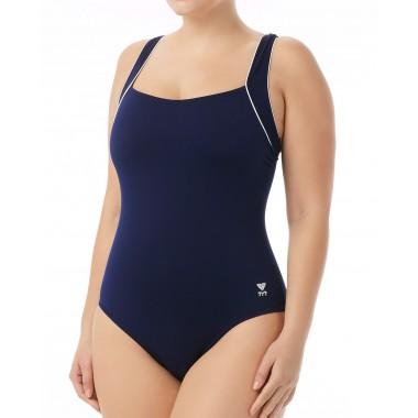 Women's Plus Size Solid Square Neck Controlfit Swimsuit