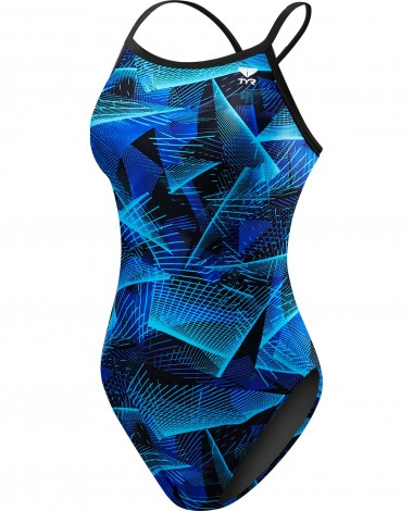 TYR Girls' Axis Diamondfit Swimsuit