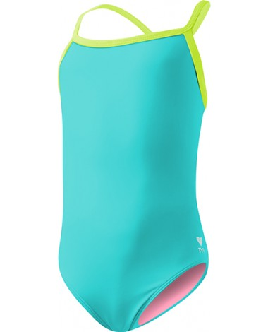 TYR Girls' Solid Diamondfit Swimsuit