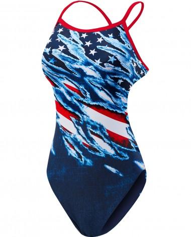 TYR Girls' Live Free Diamondfit Swimsuit