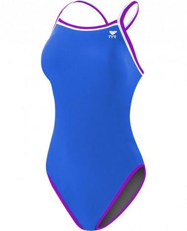 Women's Solid Brites Reversible Diamondfit Swimsuit