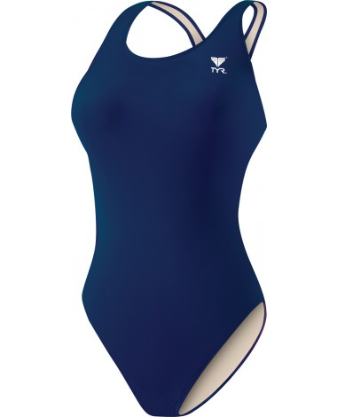 Girls' TYReco Solid Maxfit Swimsuit