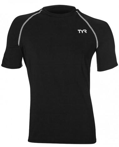 TYR Men's Short Sleeve Rashguard