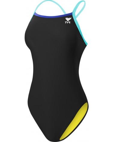 Women's Solid Brites Diamondfit Swimsuit