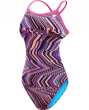 Girls' Glitch Crosscutfit Tieback Swimsuit