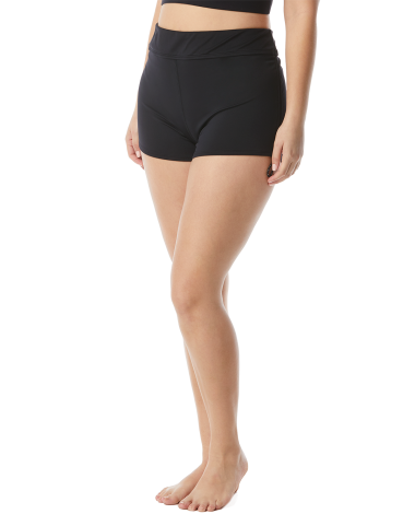 TYR Women's Plus Della Boyshort-Solid