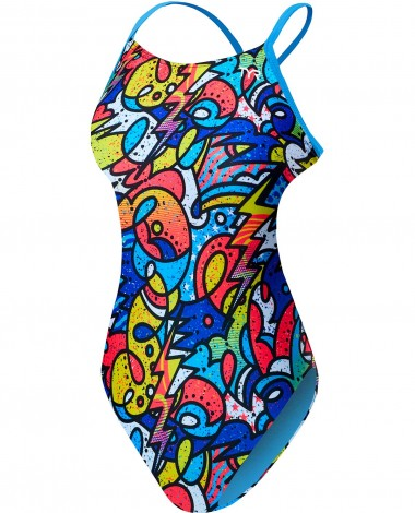 TYR Girls' Astratto Cutoutfit Swimsuit