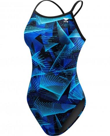 TYR Girls' Axis Diamondfit Swimsuit