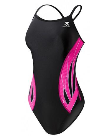 Girls' TYR Pink Phoenix Splice Diamondfit Swimsuit