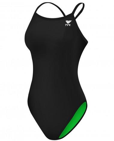 TYR Women's TYReco Solid Reversible Diamondfit Swimsuit