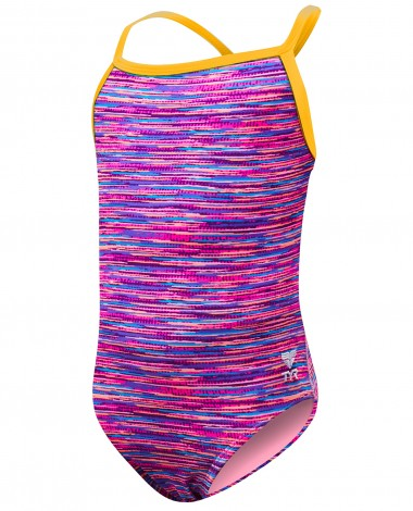 TYR Girls' Sunray Diamondfit Swimsuit