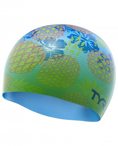 TYR Pineapple Fade Silicone Adult Swim Cap