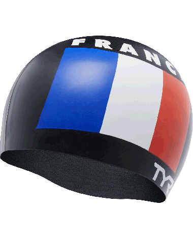 TYR France Silicone Adult Swim Cap