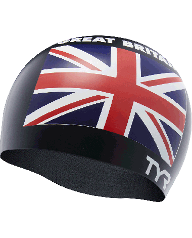 TYR Great Britain Silicone Adult Swim Cap