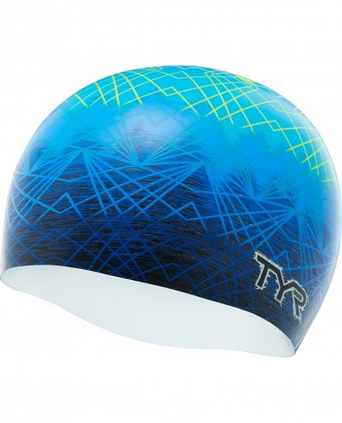 TYR Slow Fade Silicone Adult Swim Cap