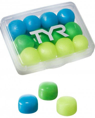 TYR Kids' Soft Silicone Ear Plugs - 12 Pack