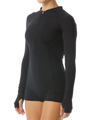 TYR Women's Fiona Long Sleeve One Piece Jumpsuit-Solid