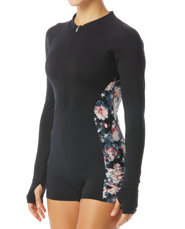 TYR Pink Women's Fiona Long Sleeve One Piece Jumpsuit-Padma