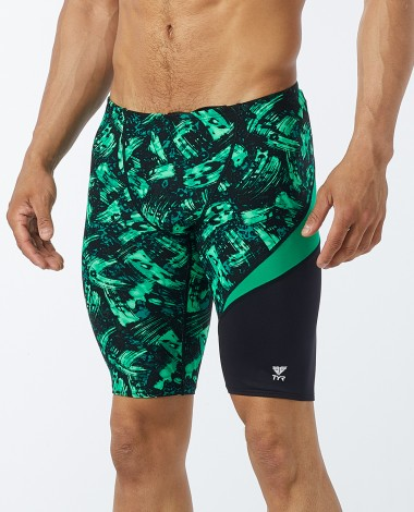 TYR Men's Emulsion Wave Jammer Swimsuit