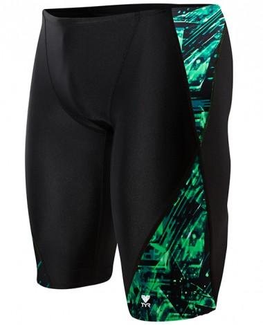 TYR Boys' Vitrum Blade Splice Jammer Swimsuit