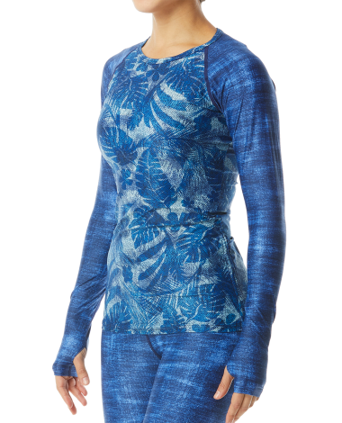 TYR Women's Belize Long Sleeve Rashguard- Maui