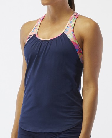 TYR Women's Solay 2 in 1 Tank-Boca Chica