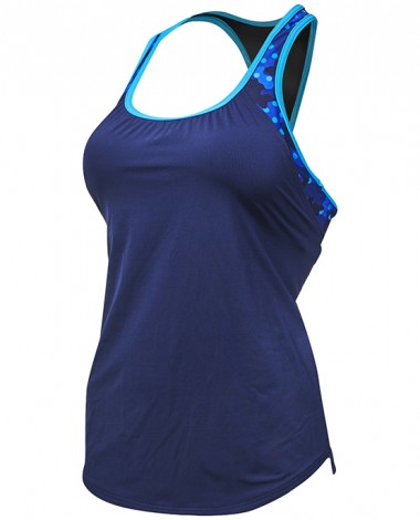 TYR Women's Solay 2 in 1 Tank - Cadet
