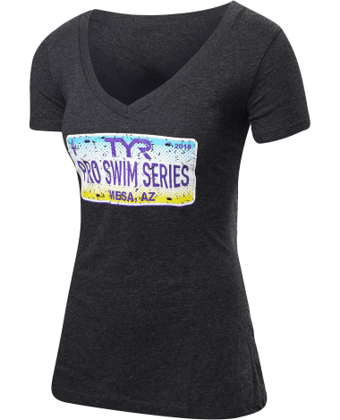 TYR Women's Pro Series Mesa License Plate V-Neck Tee
