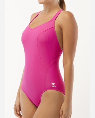 Women's TYR Pink Halter Controlfit Swimsuit