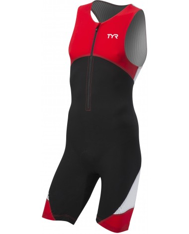 TYR Men's Carbon Padded Front Zip Tri Suit