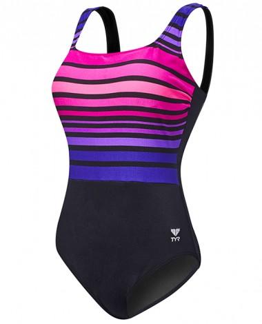 Women's Ombre Stripe Aqua Controlfit Swimsuit