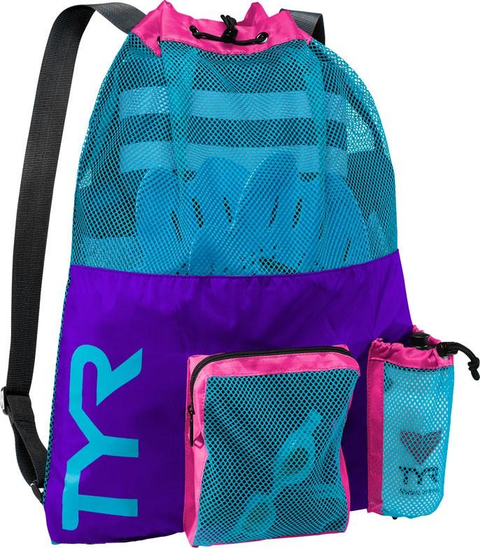 Swim Gear Bag: TYR Big Mesh Mummy Backpack