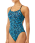 TYR Women's Burano Cutoutfit Swimsuit - Black/Turquoise