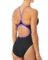 TYR Women's Hexa Diamondfit Swimsuit - Black/Purple