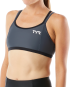 TYR Women's Competitor Thin Strap Tri Bra - Grey/Black