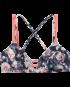 Padma Cara Top - Blk/Coral